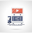 video announcement flat color icon vector image vector image