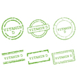 Vitamin D stamps vector image vector image