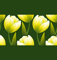yellow and green realistic flower tulip vector image vector image