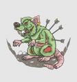 zombie rat killer vector image vector image