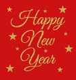 gold happy new year vector image