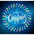 Glowing Lights Wreath for Xmas Holiday Greeting vector image