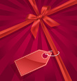 Gift bow with label vector image