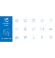 15 celebration icons vector image vector image