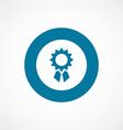 achievement bold blue border circle icon
