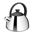 An isolated tea kettle on a white background vector image vector image