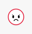 angry face poor customer review and emotional vector image