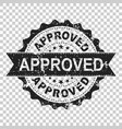 approved scratch seal stamp icon approve accepted vector image