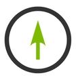 Arrow Axis Y flat eco green and gray colors vector image vector image