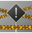 attention warning road sign vector image