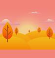 autumn background sunset vector image