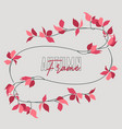 autumn red leaf vector image vector image