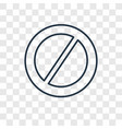 banned concept linear icon isolated on vector image