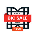 big sale icon web special offer logo template vector image vector image