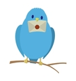 Blue bird with letter vector image vector image