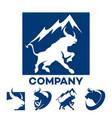 blue bull logo vector image vector image