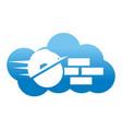 build cloud better faster teamwork vector image vector image