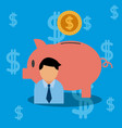 bussinesman with money vector image