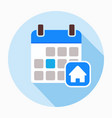 calendar home house icon vector image vector image