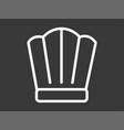 chef hat icon siign symbol vector image
