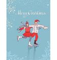 Christmas on ice vector image vector image