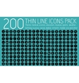 collection thin lines pictogram icon set concept vector image vector image