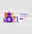 concept accounting modern conceptual for vector image