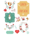 Cute Christmas clipart vector image vector image