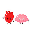 cute healthy happy human brain vector image