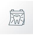 dentist day icon line symbol premium quality vector image vector image