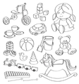 Doodle toys vector image vector image