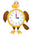 eagle clock on white background vector image vector image