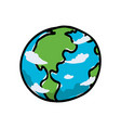 earth planet cartoon vector image vector image