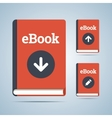 eBook in download upload and edit modifications vector image