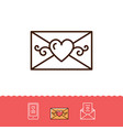 email icon phone sign envelope line thin symbol vector image vector image