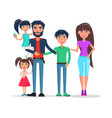father and mother with kids happy family holiday vector image