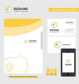 fry egg business logo file cover visiting card vector image