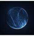 Full blue moon at dark night sky background vector image