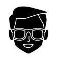 geek man with round frame glasses vector image vector image