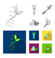 genetic and plant icon set vector image vector image