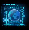 global world cyber wireless internet network vector image