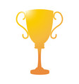 golden trophy sport award winner competition vector image vector image