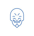 grimacing mask emoji line icon concept grimacing vector image vector image