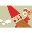 Happy Gnome vector image vector image