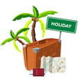 holiday object on white background vector image vector image