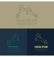 Horse logo and badges templates vector image vector image