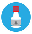isolated chemical bottle vector image vector image