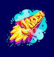 jayden name rocket vector image vector image