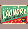 laundry fifties comic style retro sign vector image
