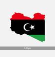 libya map flag vector image